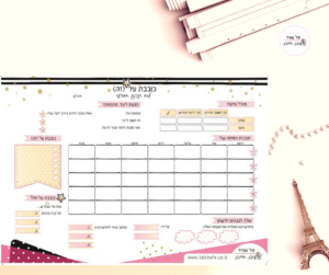 לוח תכנון מחיק טל שפיר