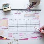 לוח תכנון חודשי, לוח תכנון יומי, לוח תכנון שבועי
